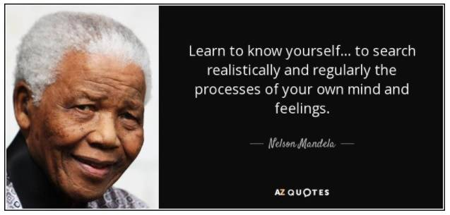 nelson mandela quote for know thyself blog from true measure wealth managment