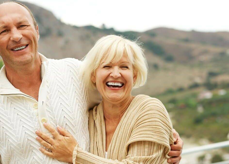 image of retired couple laughing