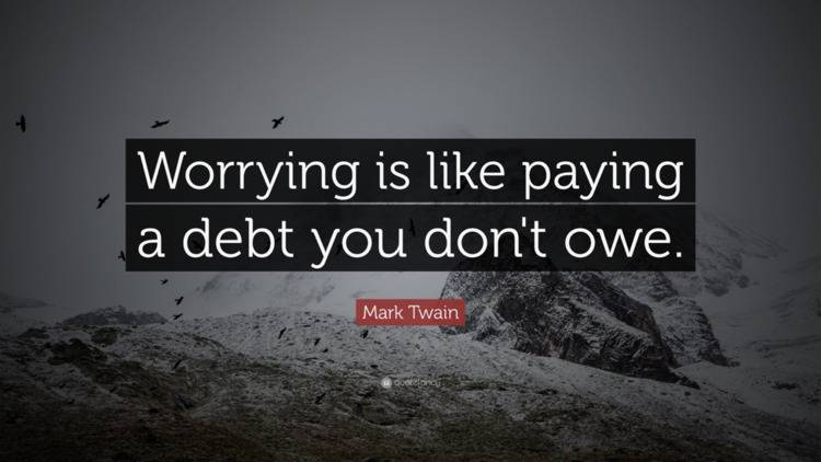 Mark Twin quote for The Futile Practice of Worrying blog from True Measure Wealth Management Blog